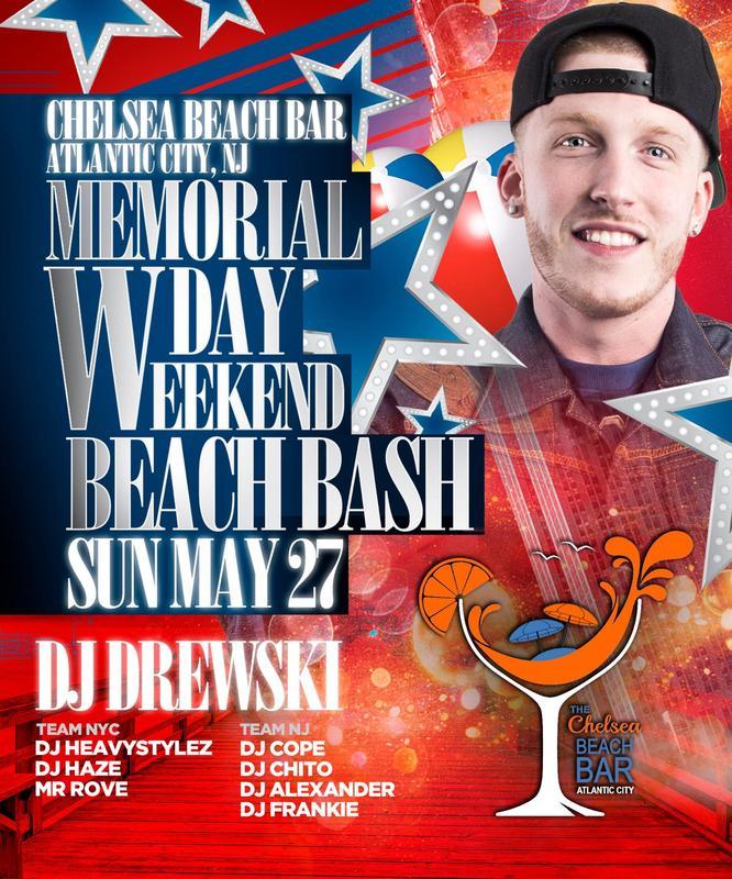 Memorial Day Weekend 2018 Beach Party At Chelsea Beach Bar