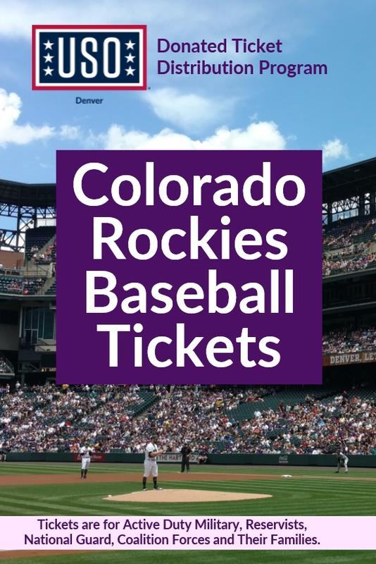 USO Denver Colorado Rockies Baseball Ticket Distribution
