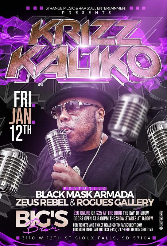 KRIZZ KALIKO LIVE IN SIOUX FALLS,SD