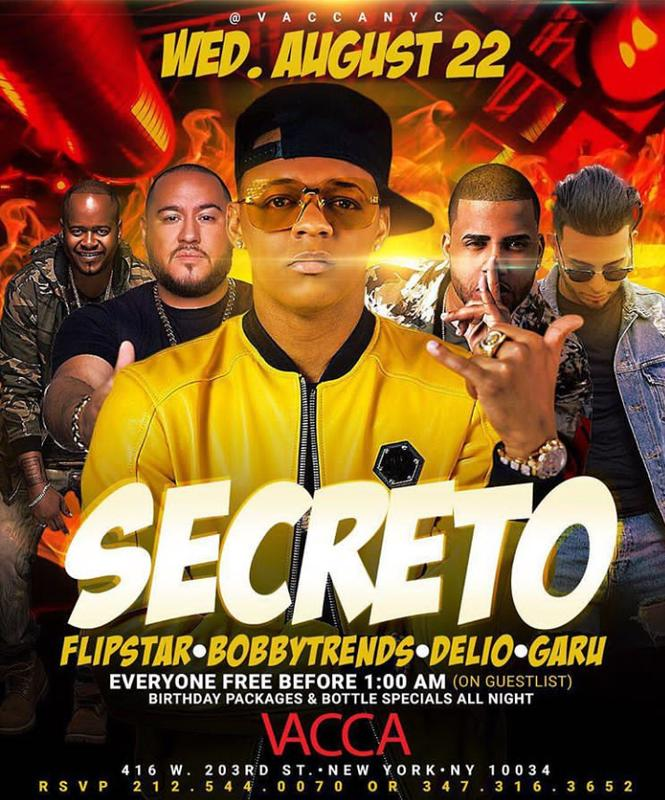 Secreto El Famoso Biberon Live With DJ Bobby Trends At Vacca Lounge