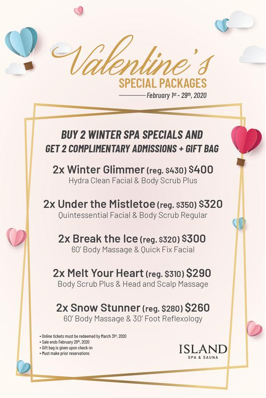 2020 Valentine's Special Packages