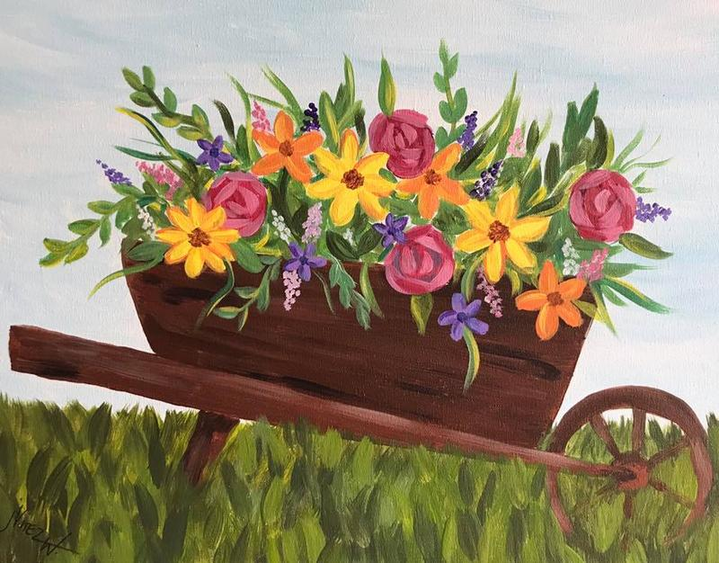 A Thirst For Art at Little Sandys {Blooming Wheelbarrow}