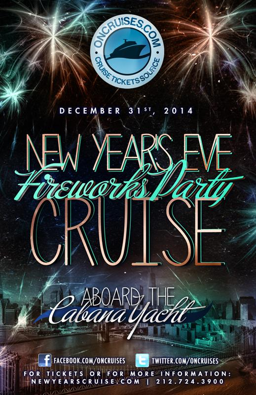 New Years Eve Fireworks Party Cruise Aboard the Cabana Yacht-2015