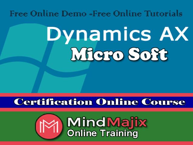 Learn Online Microsoft Dynamics Ax Training Free Certification