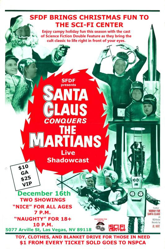 TICKET PURCHASE: Santa Clause Conquers The Martians