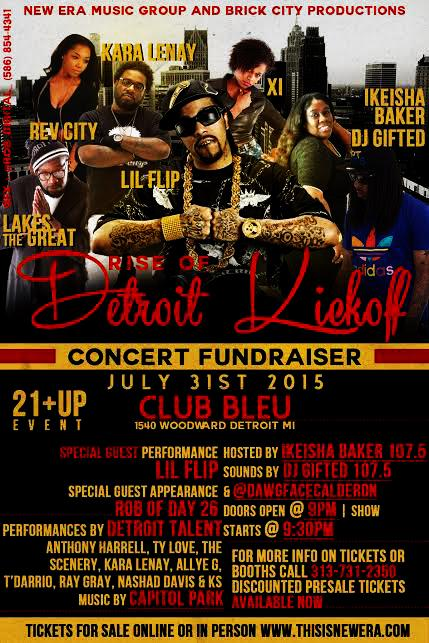 Rise of Detroit Kickoff Concert with Lil FLip