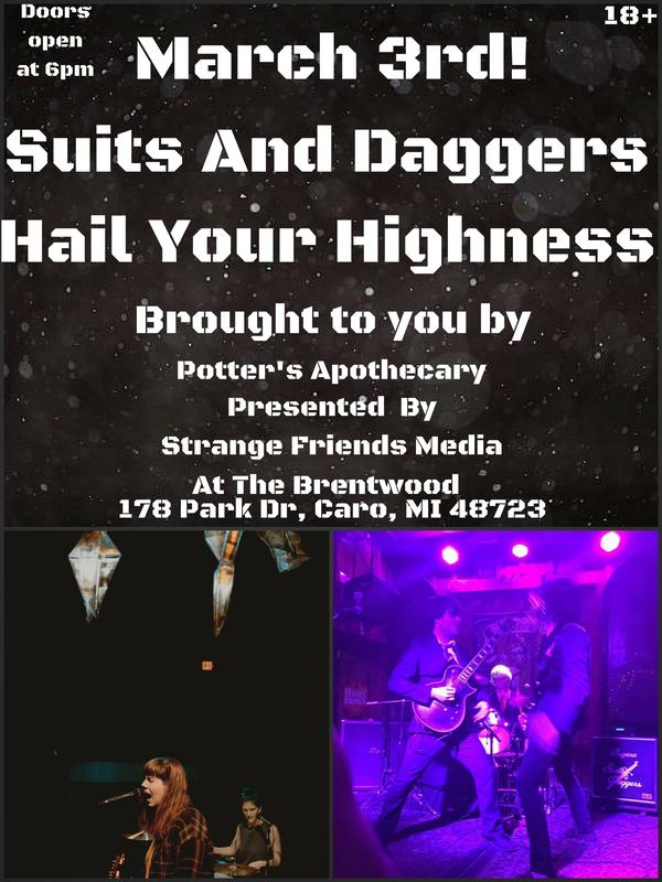 Suits And Daggers With Hail Your Highness