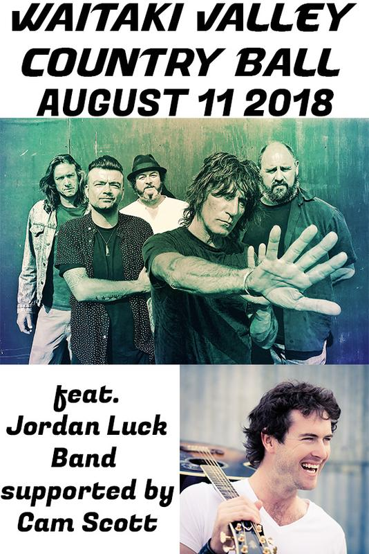 2018 Waitaki Valley Country Ball feat Jordan Luck Band & Cam Scott