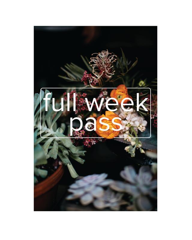detroit flower week: WEEK PASS