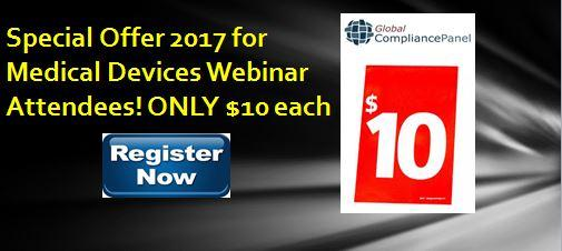 Webinar Special Sale 2017 by GlobalCompliancePanel for just $10