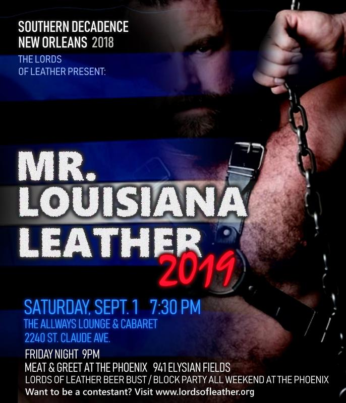 Mr. Louisiana Leather Contest VIP seating