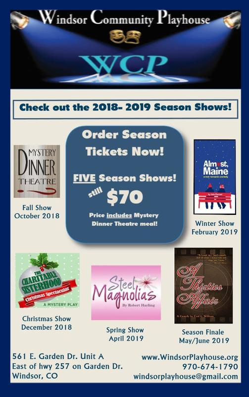 Season Tickets 2018 Theatre Season