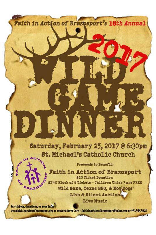 18th Annual Wild Game Dinner Fundraiser