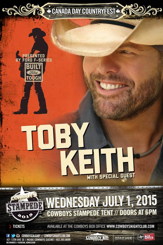 TOBY KEITH: Cowboys Stampede Tent