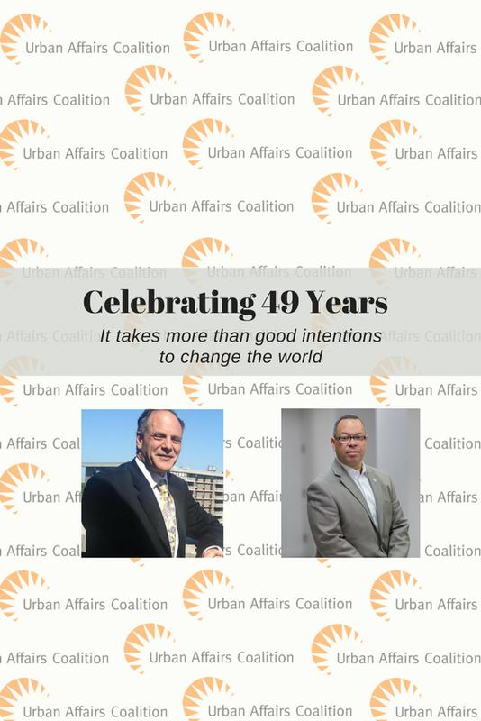 Alan Lindy & Brian Edmonds Party to Support the Urban Affairs Coalition