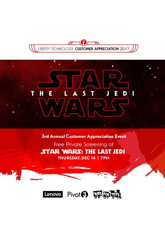Customer Appreciation 2017 - Star Wars: The Last Jedi