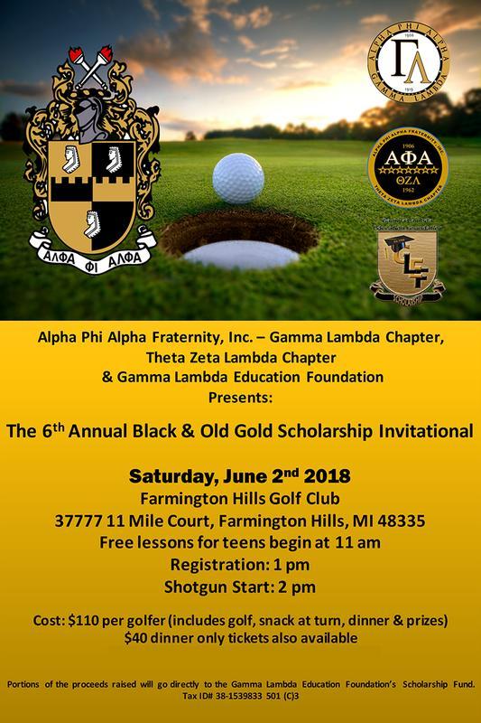 Gamma Lambda - Theta Zeta Lambda Black & Old Gold Scholarship Invitational