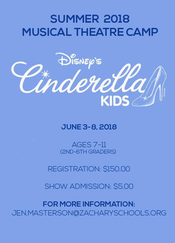 Cinderella Kids ZHS Summer Drama Camp 2018