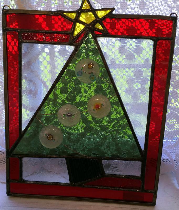 Ozark Folk School Stained Glass Class - Christmas Tree Panel