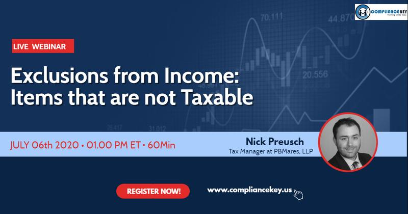 Exclusions from Income Items that are not Taxables