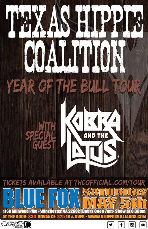 TEXAS HIPPIE COALITION with KOBRA AND THE LOTUS