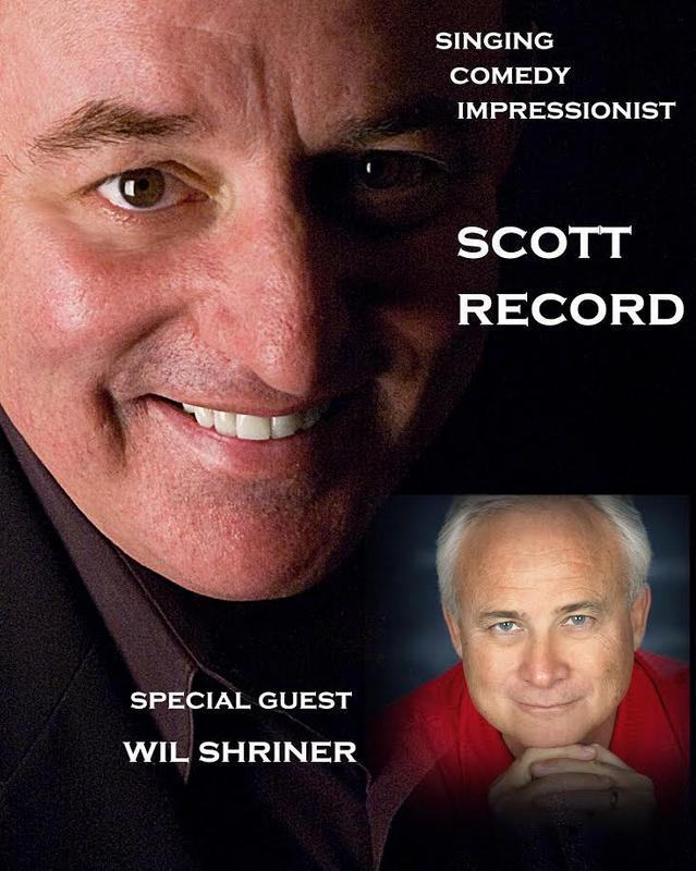 The Boomer Spectacular...Singer, Comedy, Impressionist Scott Record
