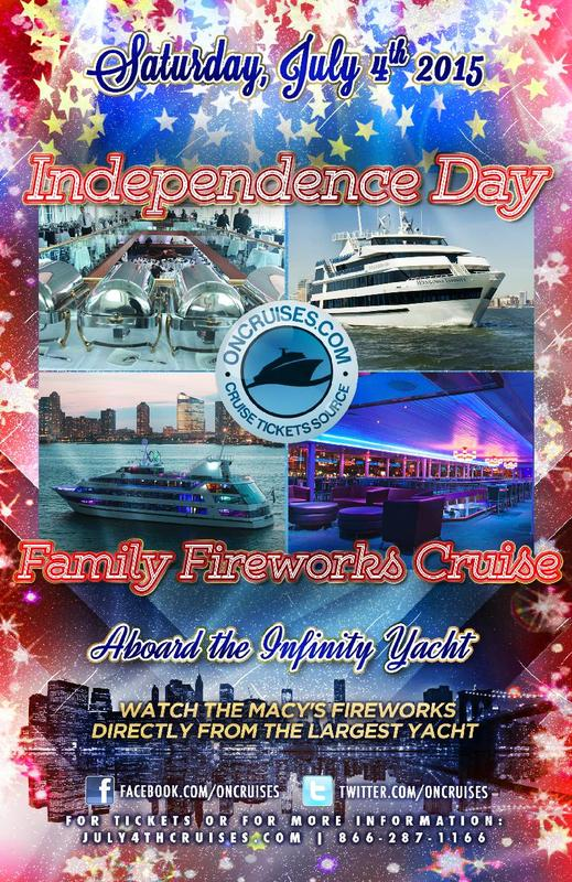 Independence Day Family Fireworks Cruise aboard Infinity Yacht