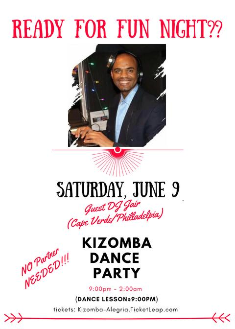 Kizomba Dance Night ft guest DJ Jair (Cape Verde/Philly)