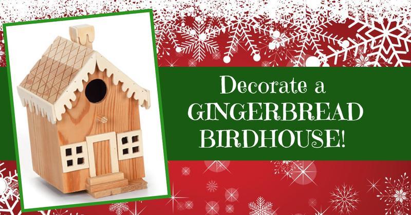 Gingerbread Birdhouse Workshop