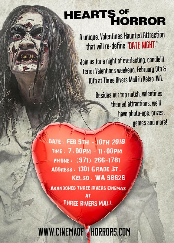 the cinema of horrors presents hearts of horror a unique valentines haunted attraction that will re define date night