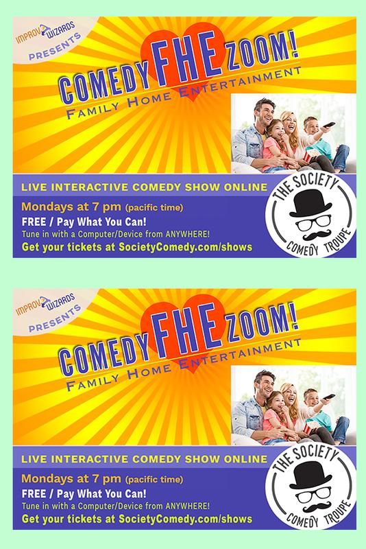 Online Comedy Show, July 6!