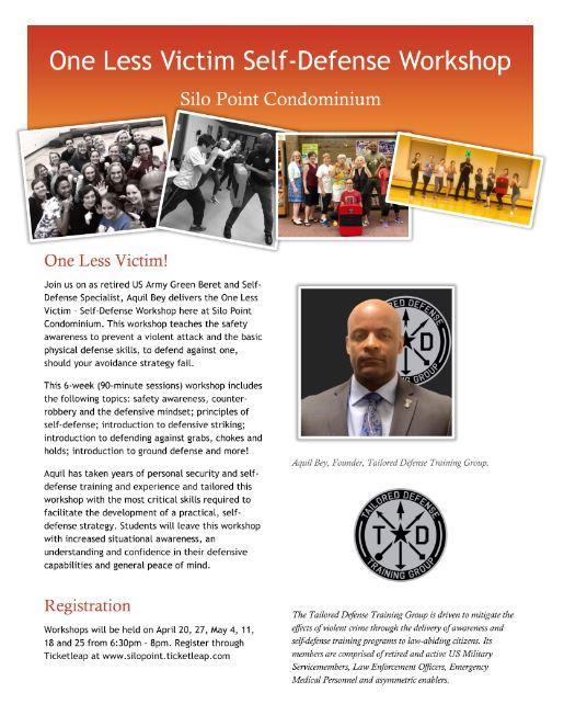 One Less Victim- Self Defense Workshop