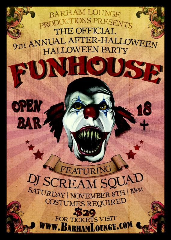 The Official 9th Annual After-Halloween Halloween Party, FUNHOUSE