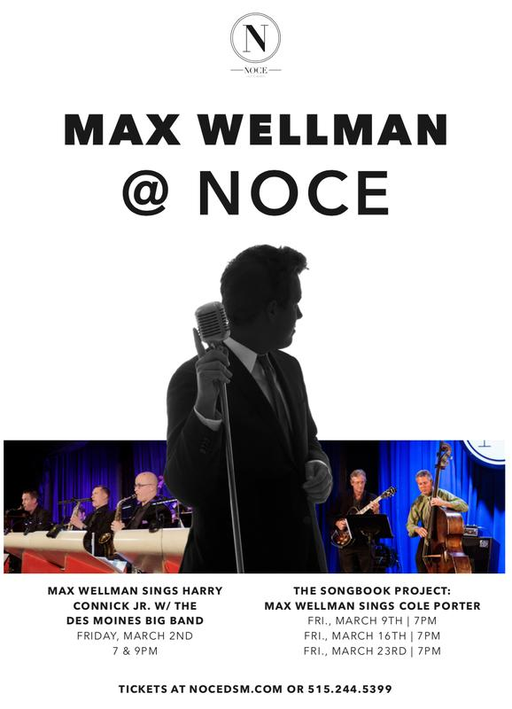 Nowhere With Love: Max Wellman Sings Harry Connick Jr. w/ The Des Moines Big Band