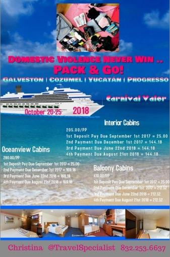 2018' Domestic Violence Pack & Go Cruise!