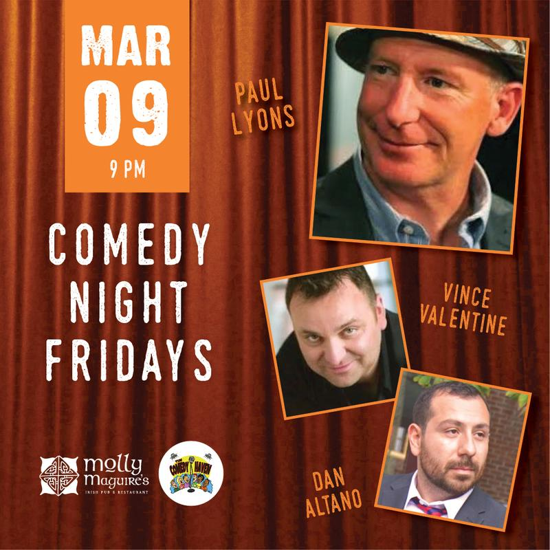 Comedy Night Fridays 3/09/2018
