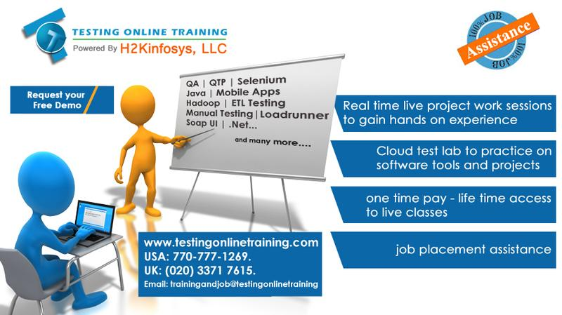 QA Testing Online Training and Placement Assistnace