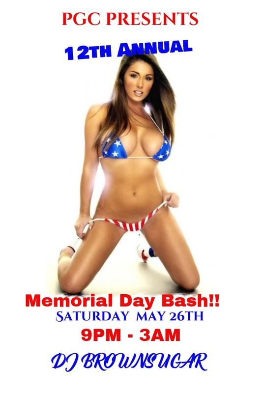 Saturday May 26th...PGC's 12th Annual Memorial Day Bash!!