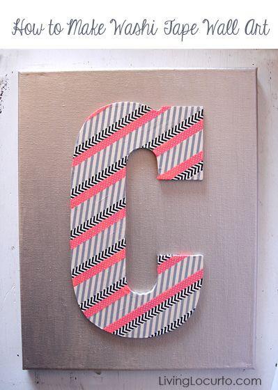 Tween/Teen Art - Washi Tape Wall Art