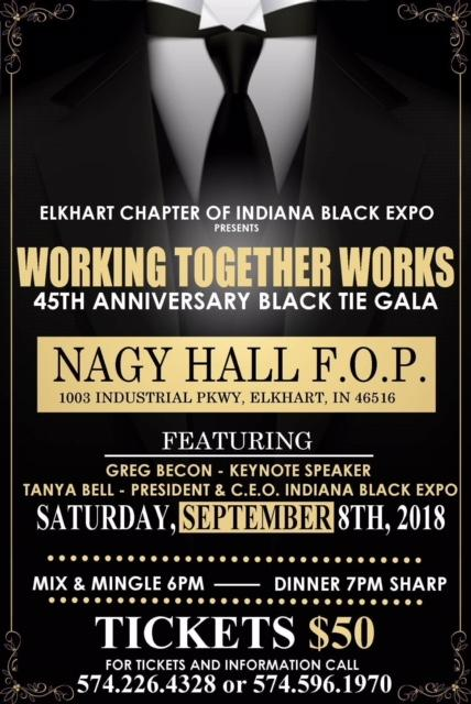 Elkhart Chapter IBE 45th Anniversary Black & White Gale