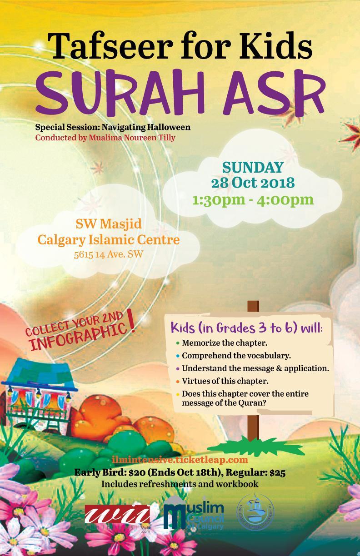 Tafseer for Kids - Surah Asr Tickets in Calgary, AB, Canada