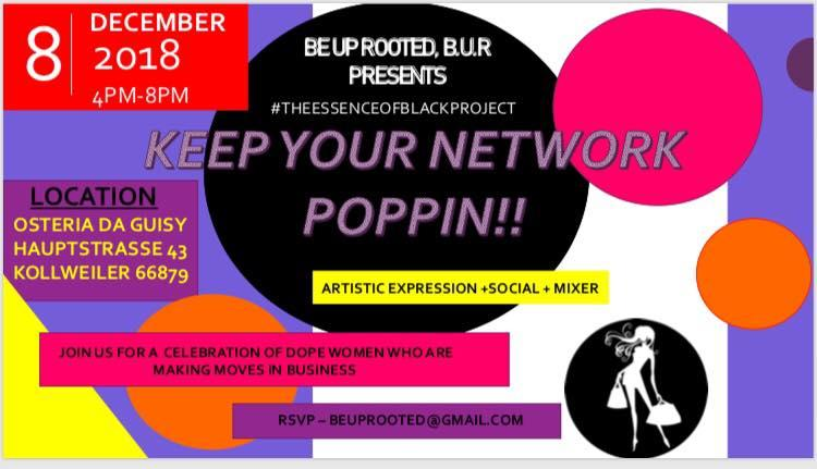 #TheEssenceofBlackProject Keep your network poppin'