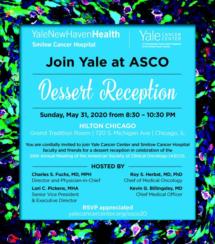 Join Yale at ASCO for a Dessert Reception