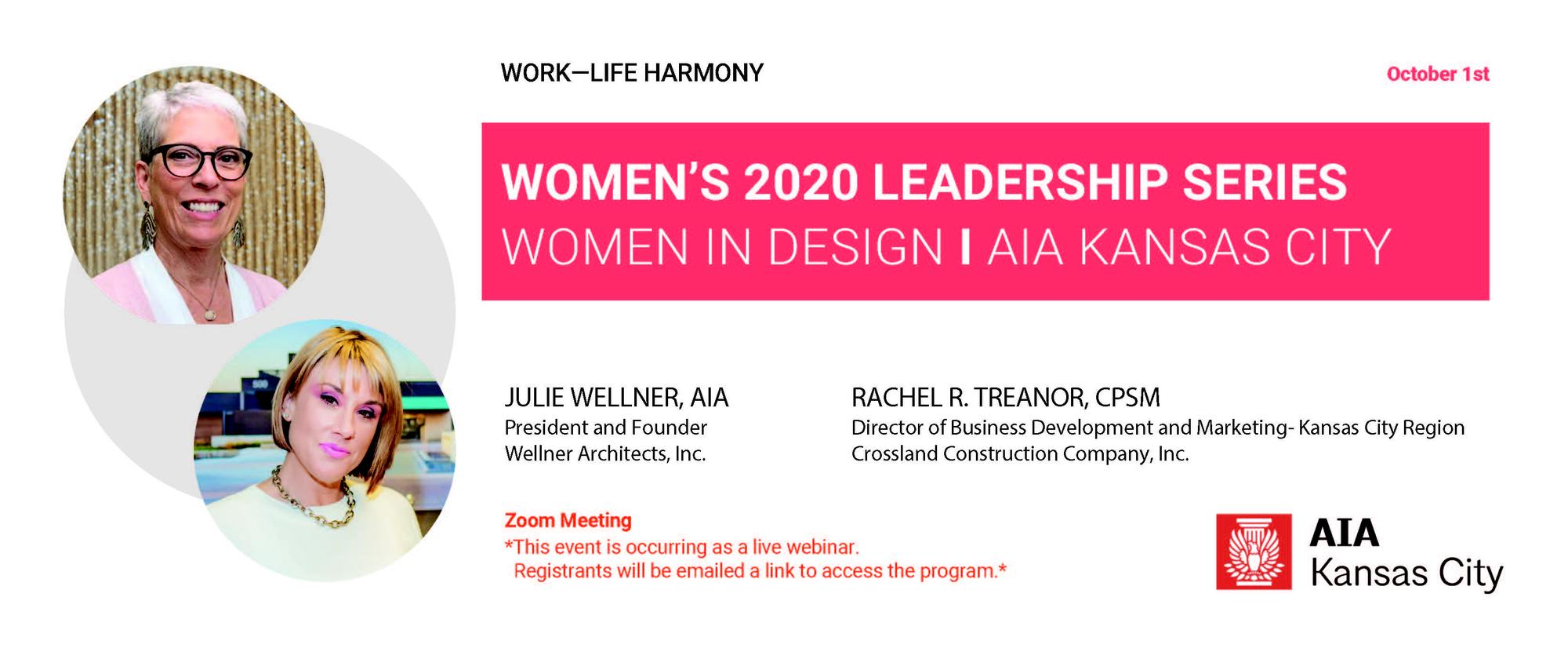 Women's Leadership Series: Julie Wellner, AIA and Rachel Treanor, CPSM