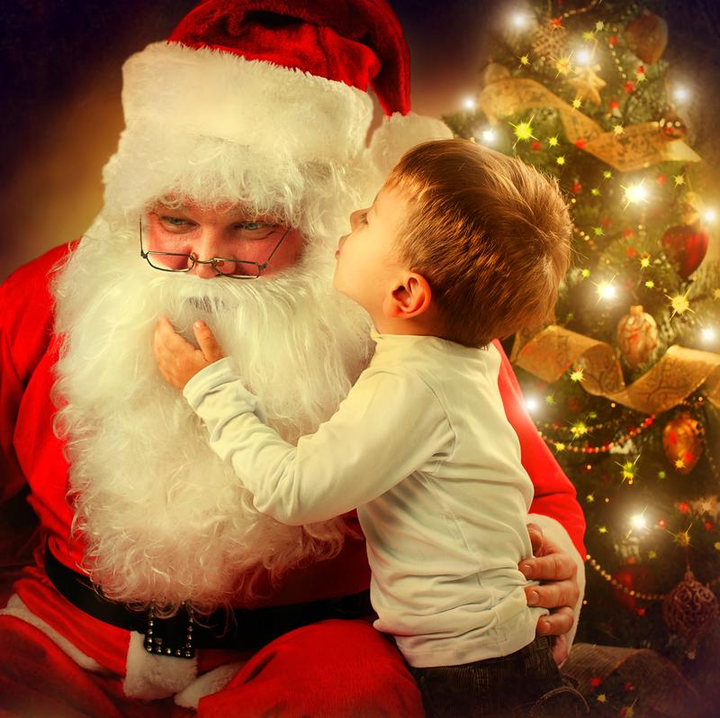 PJ pizza party and visit with Santa Claus