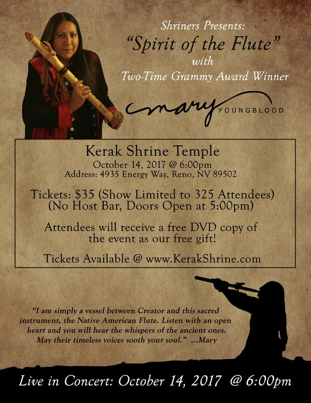"Shriners Presents ""Spirit of the Flute"" with Two Time Grammy Award Winner Mary Youngblood"