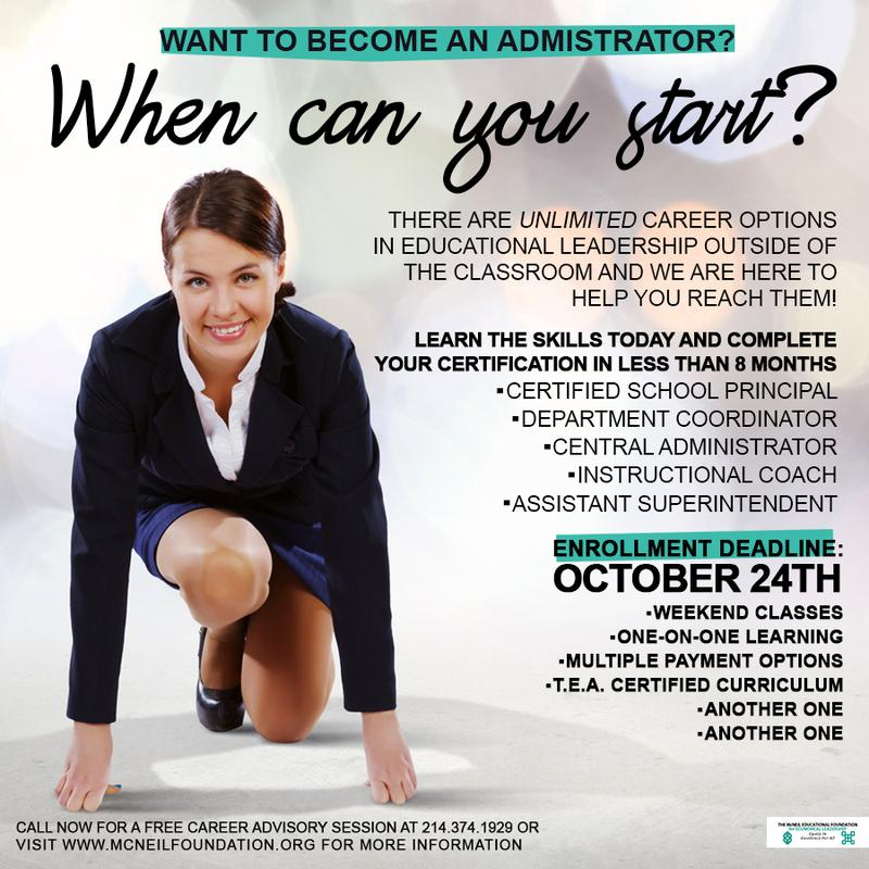 Principal/Administrator Certification