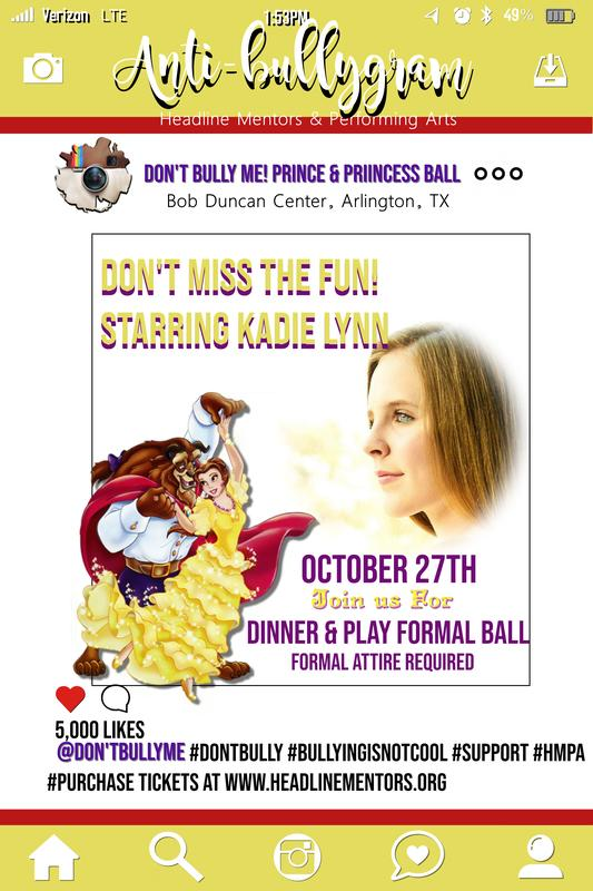 Don't Bully ME! Prince & Princess Ball Dinner & A Play