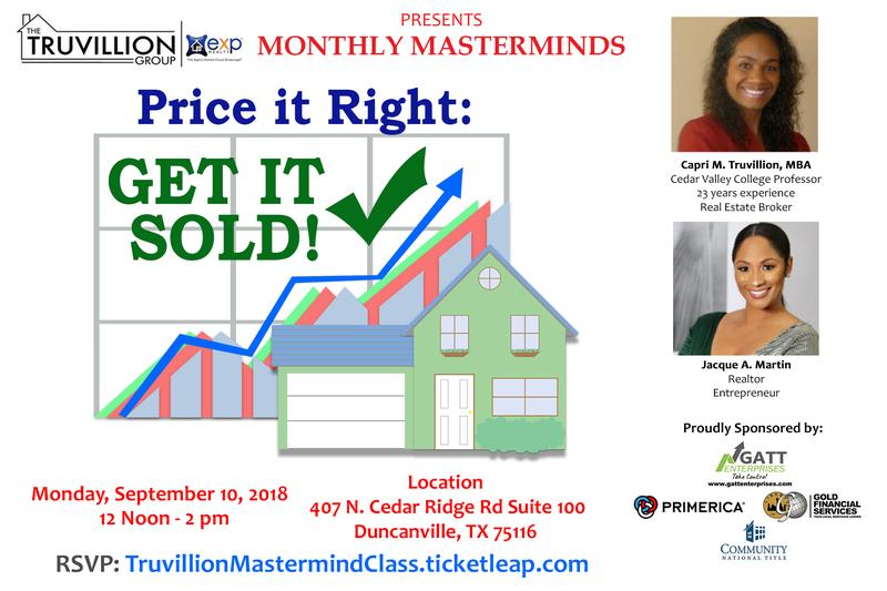 Price it Right: Get it Sold!