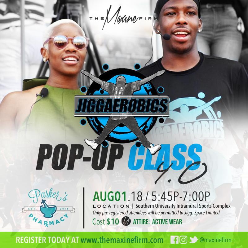 JiggAerobics Pop Up Class 4.0  with The Maxine Firm